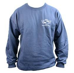 Simson Sweatshirt, Pullover, Farbe: Marineblau, Größe L mit Reflexdruck Silber