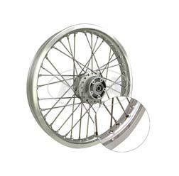 Speichenrad 1,5x16 Zoll für Scheibenbremse, Nabe silber, Alufelge, Edelstahlspeichen für S51 - S83