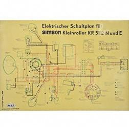 Schaltplan, Farbposter für KR51/2N und E