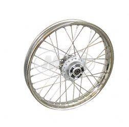 Speichenrad, 1,6x16 Zoll für Scheibenbremse Alu Nabe, Edelstahlfelge, Edelstahlspeichen für Simson