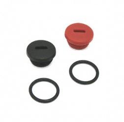 SET Verschlussschraube schwarz/rot inkl. O-Ring für Simson S51, S53, S70, S83, SR50, SR80, KR51/2