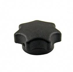 Sterngriffmutter M6, schwarz, lange Ausführung, ohne Druckscheibe, passend für ES, TS, Mokick