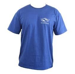 Simson T Shirt, Farbe: Marineblau, Größe M mit Reflexdruck Silber