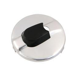 Abdeckung für Zündlichtschalter, rund, Aluminium chromeffekt - 8626.1/6-1 - für TS125, TS150, TS250/