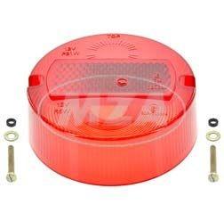 SET Rücklichtkappe ø 100mm, rot inkl. 2 Schrauben für Simson KR51/2, S50, S51, S70 mit E-Prüfzeichen