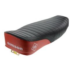 Enduro Sitzbank schwarz/ rot + strukturiert für Simson S50, S51, S70, S51E, S70E