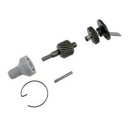 Set Tachoantrieb - 5-teilig (Schraubenrad, Schraubenritzel und Kleinteile) für Ritzel Z=11 / Motor