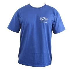 Simson T-Shirt, Farbe: Marineblau, Größe L mit Reflexdruck Silber 100% Baumwolle