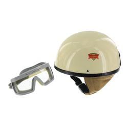 SET Schutzhelm PERFEKT Modell P-500 Farbe elfenbein Größe S mit DDR-Schutzbrille SPORTURA