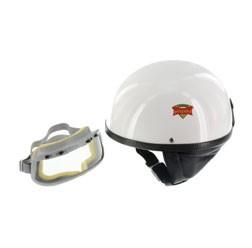 """SET Schutzhelm """"""""PERFEKT"""""""" weiß Größe XL für Kopfumfang 61-62cm mit DDR Schutzbrille """"""""START"""