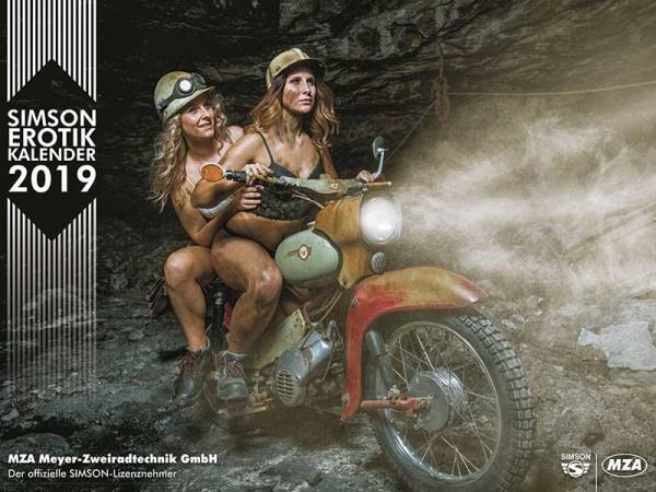 SIMSON Erotik-Kalender 2019 Tolle Mopeds und heiße Kurven