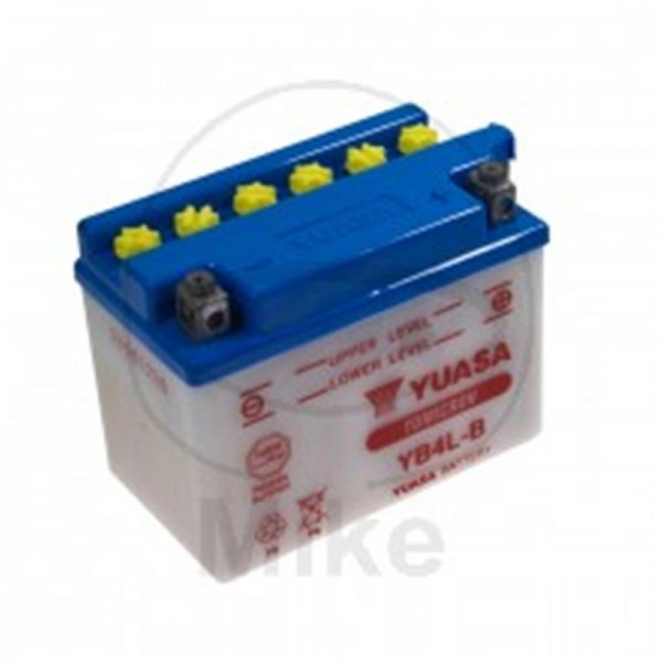 Yuasa Batterie 12V 4Ah, ohne Säure Pack