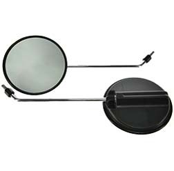 2x Rückblickspiegel ø 120 mm, Gewinde M8, Spiegelarm Chrom, rechts u. links verwendbar