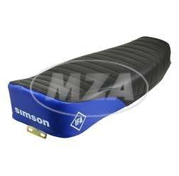 Enduro Sitzbank schwarz/blau + strukturiert für Simson S50, S51, S70, S51E, S70E