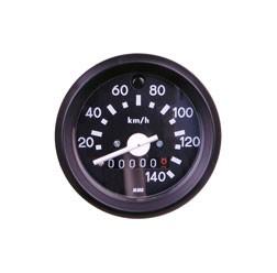 Tachometer ø 60mm bis 140 km/h mit Blinkkontrollleuchte grün für Simson S51, S53, S70