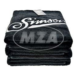 SIMSON Badehandtuch, schwarz, Größe: 150 x 100cm, 100% Baumwolle