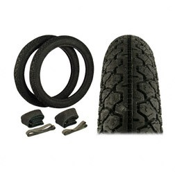 SET 2 Stück Reifen, Schläuche, Felgenbänder für KR51/1, KR51/2, SR4-2, SR4-3, SR4-4, S50, S51, S70