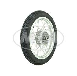 Komplettrad Vorne 1,6x16 Zoll Alufelge poliert, Edelstahlspeichen, mit Reifen Einbaufertig für S51
