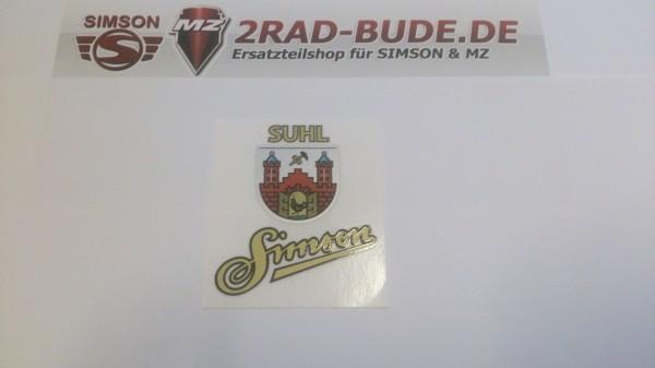 Tankemblem Simson Suhl Aufkleber für Simson AWO, SR1, SR2