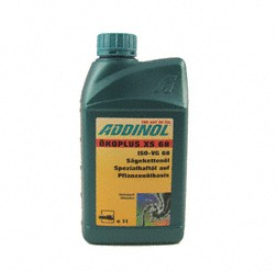 ADDINOL Kettensägenöl (Schneidschwert) Ökoplus XS68, biologisch abbaubar, 1 L Dose