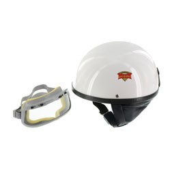 """SET Schutzhelm """"""""PERFEKT"""""""" - Modell P-500 - weiß - Größe S (55-56cm) - mit DDR-Schutzbrille """"""""START"""""""