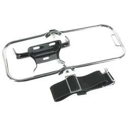 SET Gepäckträger komplett, verchromt, mit Schutzblechhalter schwarz für Simson S50, S51, S70