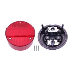 Rücklicht kpl - Ø120mm - 3 Schrauben - Rücklichtunterteil + Lichtaustritt für S51, SR50, MZ ETZ