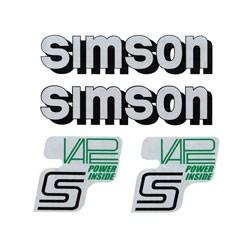 Set Vape Power Design Aufkleber Für Tank Und Seitendeckel Für Simson S50 S51 S70