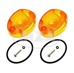 Set Blinkergläser orange, inkl. Gummidichtungen und Schrauben für Simson KR51, SR4-2, MZ