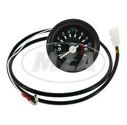 Elektronischer, induktiver Drehzahlmesser bis 12000 U/min ø 60 mm für 12V Bordelektrik