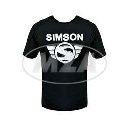 SIMSON T-Shirt, Farbe: schwarz, Größe: XS 100% Baumwolle