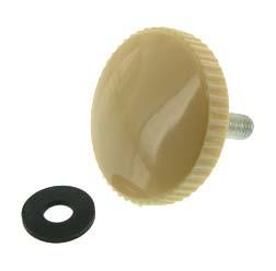 SET Rändelschraube M8 elfenbein (beige) mit Gummischeibe SR59 1x, SR56 3x