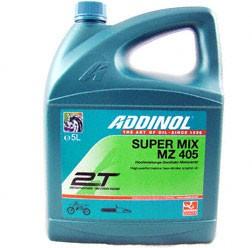 ADDINOL MZ405 SUPER MIX, 2-Takt-Motorenöl, rot gefärbt, mineralisch, 5 L Kanister