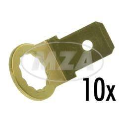 VPE 10x Flachstecker, Kontaktzunge, Masseverbindung 6,3 x 0,8 mm
