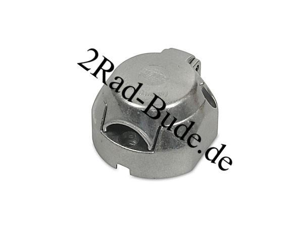 Metallsteckdose 7-polig für Anhänger ohne Abschaltfunktion, ohne Dichtung