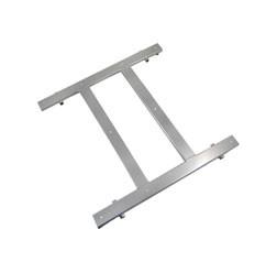 Behälterauflage groß - Doppelsteg - Zarges-Behälter - einschichtsilber pulverbeschichtet - Dreirad