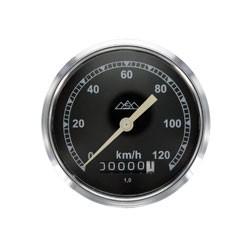 Tachometer, Ø80mm verchromt 120km/h Version für AWO 425T, 425S