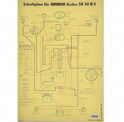 Schaltplan, Farbposter für SR50 B3