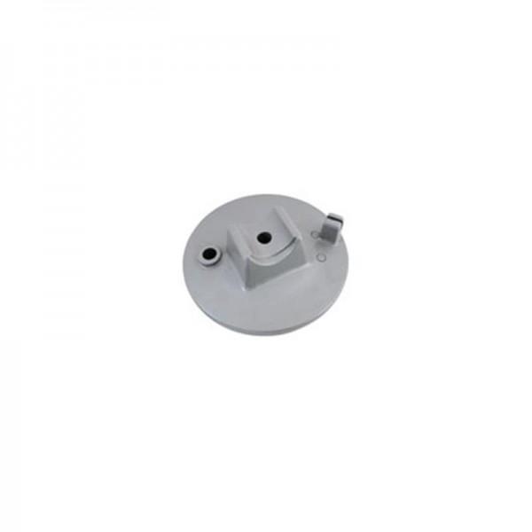 Bremsschild vorn - grau pulverbeschichtet - mit Bolzen - Mokick u. Roller