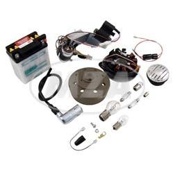 VAPE Umrüstsatz 12V 35/35W mit Batterie, Hupe u. Leuchtmittel für Simson KR51/1, KR51/2