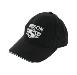 Simson Basecap, schwarz mit 3D-Logo in silber