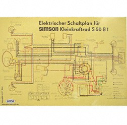 Schaltplan, Farbposter für S50 B1