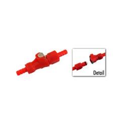 Steckkupplung f. Kraftstoffschlauch - rot - Benzinschlauchkupplung - Anschlüsse ø innen 4,7, ø außen
