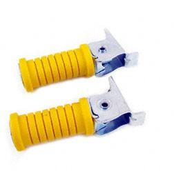 Paar Soziusfußraste links u. rechts gelb glatt verzinkt