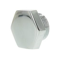 Verschlussschraube Führungsrohr Federung hinten, verchromt - für RT125, BK350