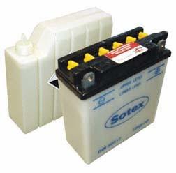 Batterie 12V 5,0 Ah mit Batteriesäure für Simson SR50, SR80, S50, S51, S70, MZ ETZ 251, ETZ 301