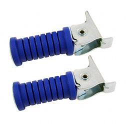 Paar Soziusfußraste links u. rechts blau glatt verzinkt .