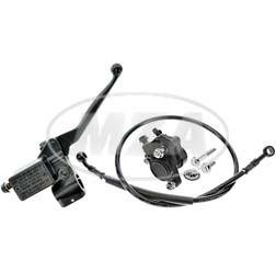 Handbremszylinder für Schnellgasgriff mit Bremssattel, Bremsschlauch 780mm für Simson SR50, SR80