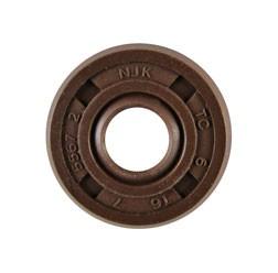 Wellendichtring NJK 06x16x07 - FPM - braun - mit Staublippe