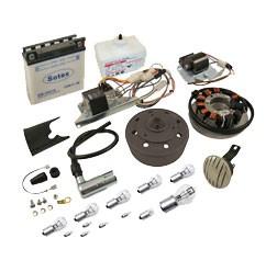 VAPE Umrüstsset auf 12V 35/35W mit Batterie, Hupe und Leuchtmittel für S50, S51, S70